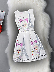 Girl's Birthday Daily Holiday Going out Solid Floral Print Dress