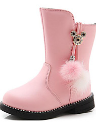 cheap -Girls' Shoes PU Fall / Winter Fashion Boots Boots for Black / Red / Pink