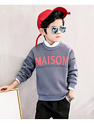 Boys' Solid Blouse,Cotton Spandex Fall Winter