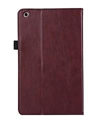 para capa capa carteira carteira com suporte flip auto dormir / acordar corpo completo cor sólida couro duro para huawei t3 8.0 kob-l09 /