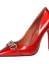 cheap -Women's Shoes PU Spring Fall Basic Pump Heels for Casual Party & Evening White Black Red Nude