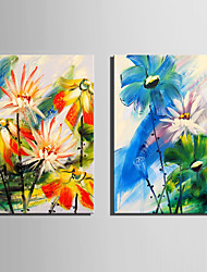 cheap -Two Panels Canvas Vertical Print Wall Decor Home Decoration