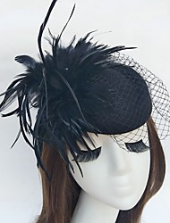 Feather Net Fascinators Hats Birdcage Veils Headpiece Elegant Style