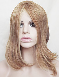 cheap -Women Synthetic Wig Capless Short Medium Length Straight Strawberry Blonde/Bleach Blonde Bob Haircut With Bangs Party Wig Natural Wigs