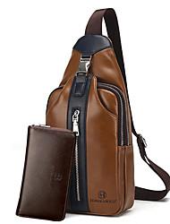 economico -Per uomo Sacchetti PU sacchetto regola Set di borsa da 2 pezzi Cerniera Blu / Nero / Marrone