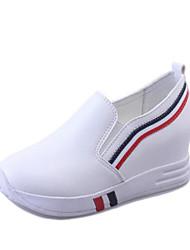 Femme Chaussures Crin de Cheval Printemps Automne Moccasin Mocassins et Chaussons+D6148 Talon Plat Pour Décontracté Blanc Noir Rouge