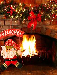 cheap -1Pcs Santa Claus Snowman Tree Door Christmas Decoration For Home Hanging Pendant Christmas Decoration