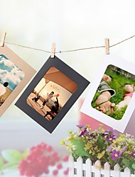 3 Inches DIY Hanging Wall Picture Home Decoration Combination 10Pcs Wall Photo Frame With 10Pcs Clips