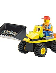 cheap -Building Blocks Wheel Excavator Toys Excavating Machinery 1 Pieces