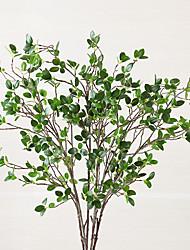 1 Ramo Poliéster Plantas Flor de Mesa Flores artificiais