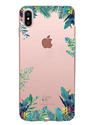 economico -Custodia Per Apple iPhone X iPhone 8 iPhone 8 Plus Transparente Fantasia/disegno Custodia posteriore Albero Morbido TPU per iPhone X