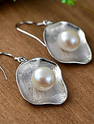 cheap -Women's Stud Earrings Drop Earrings Pearl Fashion Simple Style Pearl Sterling Silver Geometric Jewelry For Daily Casual