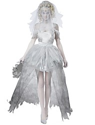cheap -Zombie Bride One Piece Dress Cosplay Costume Masquerade Female Halloween Carnival Day of the Dead New Year Festival / Holiday Halloween