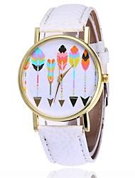 abordables -Mujer Reloj de Pulsera Chino La imitación de diamante PU Banda Vintage / Casual / Moda Negro / Blanco / Marrón