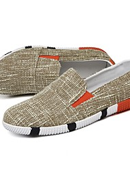 cheap -Men's Shoes Linen Summer Moccasin Loafers & Slip-Ons For Casual Khaki Blue Gray