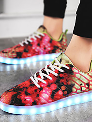 cheap -Women's Shoes Fabric Customized Materials Leatherette Fall Winter Light Up Shoes Comfort Sneakers LED Lace-up For Casual Outdoor Blue