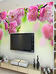 Недорогие -Рисунок 3D Цветы Обои Для дома Деревня Облицовка стен , Холст материал Клей требуется фреска , Обои для дома