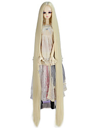 cheap -Women Synthetic Wig Capless Very Long Kinky Straight Light Blonde Doll Wig Costume Wig