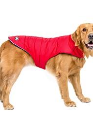 preiswerte -Hund Mäntel 14 Diamant Spitze Weste Hundekleidung Lässig/Alltäglich Wasserdicht warm halten Sport Solide Orange Rot Blau Kostüm Für