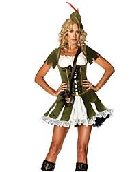 abordables -Diosa Enfermera Vestidos Cosplay de películas  Verde Gris Vestido Sombrero Halloween Carnaval Oktoberfest Fibra de algodón