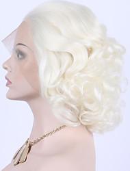economico -Donna Parrucche Lace Front Sintetiche Pantaloncini Biondo platino Parrucca per festa Parrucca di celebrità Parrucca di Halloween Parrucca
