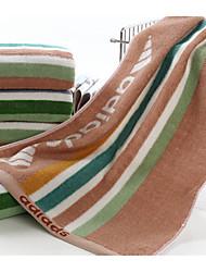 Недорогие -Свежий стиль Спортивное полотенце,В полоску Высшее качество 100% хлопок Полотенце