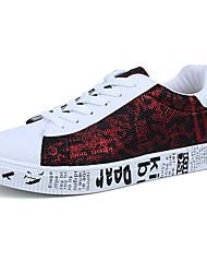 Homme Chaussures Polyuréthane Printemps Automne Confort Basket Pour Décontracté Noir et Or Noir/blanc Noir/Rouge