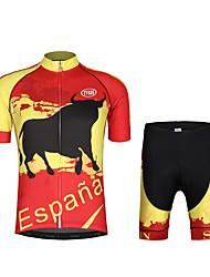preiswerte -Fahrradtriktot mit Fahrradhosen Herrn Kurzarm Fahhrad Sweatshirt Trikot/Radtrikot Gepolsterte Shorts Kleidungs-Sets Leicht Terylen LYCRA®