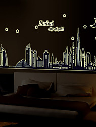 cheap -Architecture Fashion Landscape Wall Stickers Plane Wall Stickers Decorative Wall Stickers,Vinyl Material Home Decoration Wall Decal