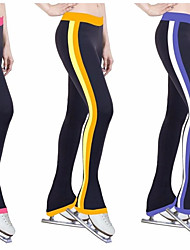 Over The Boot Figure Skating Tights Women's Girls' Ice Skating Pants / Trousers Tracksuit Yellow Red Blue Stretchy Performance Practise