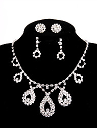 cheap -Women's Rhinestone Chain Necklace - Elegant White Necklace For Wedding Party Engagement