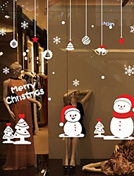 cheap -Christmas Cartoon Words & Quotes Wall Stickers Plane Wall Stickers Decorative Wall StickersVinyl Material Home Decoration Wall Decal