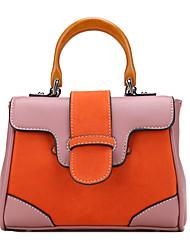 Donna Sacchetti Per tutte le stagioni PU (Poliuretano) Tote Tasche Cerniera per Shopping Casual Blu Arancione Rosso Verde chiaro