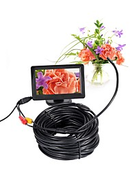 5.5mm Lens AV Endoscope Camera Mini Camera 5V NTSC Waterproof IP66 15m Inspection Borescope Snake Pipe Cam Night Vision