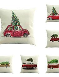 набор из 6 настроить персональный автомобиль с рождественские елки веселый рождественские 45 * 45 диван подушки покрытие