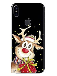 Case For iPhone X iPhone 8 Transparent Pattern Back Cover Cartoon Christmas Soft TPU for iPhone X iPhone 8 Plus iPhone 8 iPhone 7 Plus