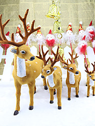 3PCS Xmas Elk Plush Simulation Christmas Decorations Christmas Ornaments