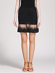 cheap -Latin Dance Tutus & Skirts Women's Ice Silk Tassel(s) Natural Skirts