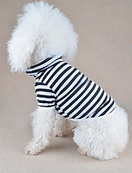 cheap -Dog Shirt / T-Shirt Dog Clothes Casual/Daily Stripe Orange Yellow Red Green Blue Costume For Pets