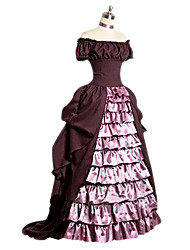 One-Piece/Dress Sweet Lolita Lolita Cosplay Lolita Dress Pink Vintage Cap Short Sleeves Floor-length Dress For Other
