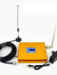 LCD Display CDMA 850mhz DCS 1800mhz Mobile Phone Signal Booster Signal Amplifier with Whip Antenna / Sucker Antenna / Dual Band / Golden
