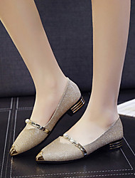Women's Shoes Paillette Patent Leather Spring Fall Comfort Light Soles Flats Flat Heel Pointed Toe Rhinestone Sequin For Casual Dress