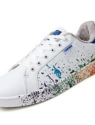 economico -Da uomo Scarpe Gomma Autunno Comoda Sneakers Lacci Per Bianco/nero White/Blue Bianco e verde