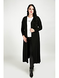cheap -Women's Cute Street chic Plus Size Trench Coat-Solid Colored,Oversized