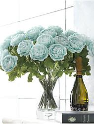 Недорогие -2 Филиал Полиэстер Камелия Букеты на стол Искусственные Цветы