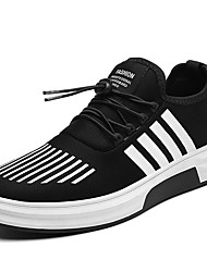 cheap -Men's Shoes Knit Breathable Mesh Fall Winter Comfort Athletic Shoes Split Joint For Casual Black/Red Black/White Black