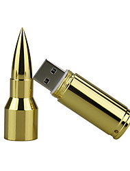 abordables -8 gb metal bullet usb 2.0 usb flash drive pen drive memoria stick pendrive u disco flash drive silver / gold