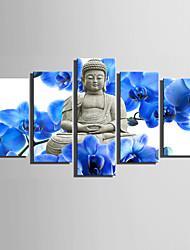 Недорогие -Люди Классика, 5 панелей холст Вертикальная С картинкой Декор стены Украшение дома