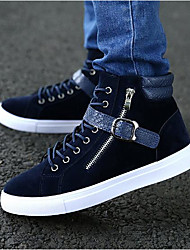 cheap -Men's Shoes Fabric Spring Fall Comfort Sneakers For Casual Blue Black