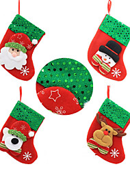 4pcs Christmas Decorations Christmas StockingsForHoliday Decorations 12*12